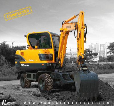 Lamote en Cie NV kiest voor een Hyundai R55W-9A