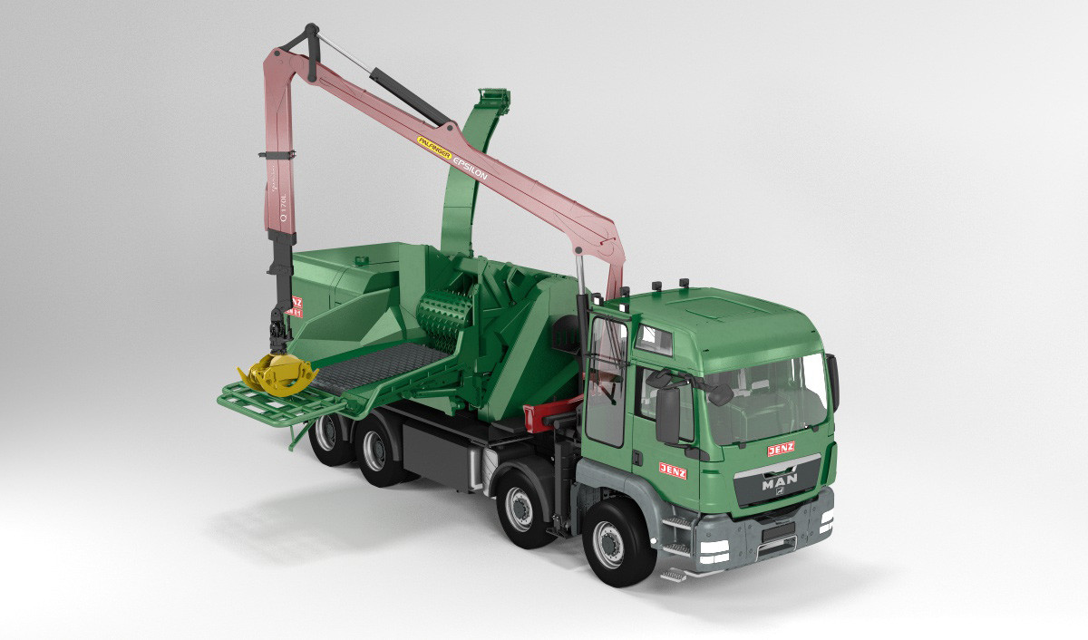 Jenz HEM 821 DQ-Truck hybrid