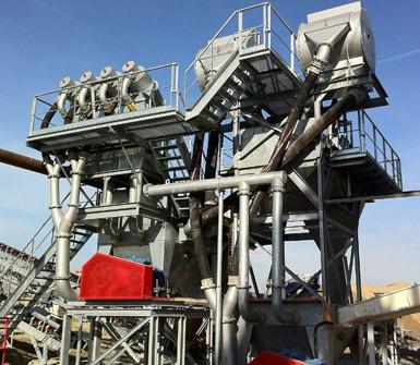 Installations pour la correction granulométrie de sable